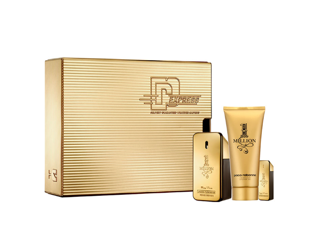 Paco Rabanne gavesæt, 1 Million Eau de Toilette 50ml, Shower Gel 100ml & Mini 5ml